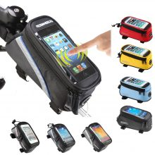 Water-resistant Colorful Pu/pvc Bicycle Bag With Phone Holder